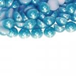 Ümarad lapikud pikuti aukudega, liimitavad plastikhelmed 8mm