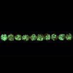 Pimedas helendavad läbipaistvad klaashelmed 8mm