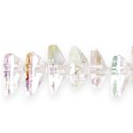 Kolmnurkne tahuline kristall 10x5mm