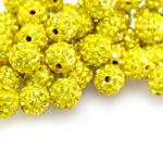 Savimaterjalist klaaskristallidega pärl/vahedetail 10mm