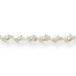Ovaalne pärlmutter 12x10mm klaashelmes