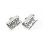 Cord End C-Crimp, Dimple Pattern; 2pc / 10 x 6mm