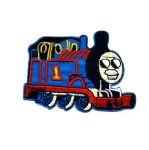 Triigitav Aplikatsioon; Vedur Toomas / Embroidered Iron-On Patch; Thomas the Tank Engine / 7,5 x 5,5cm