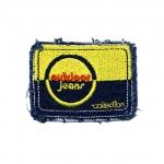 """Triigitav Aplikatsioon; Teksariidest kandiline, aplikatsioon kirjaga """"Outdoor jeans""""/ Embroidered Iron-On Patch 6,5x4,5cm"""