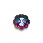 Lillekujuline kristallilaadne akrüülnööp 10mm, 16L