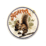 Triigitav Aplikatsioon; Orav / Embroidered Iron-On Patch; Squirrel / 6,5 x 6,5cm