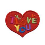 Triigitav Aplikatsioon; Süda, `I love you` / 7,5 x 6cm