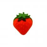 Maasikas, kannaga plastiknööp, 18x17mm/28L