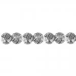 Reljeefse mustriga ümar metallhelmes 6mm