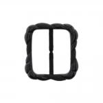 Plastic triglide buckle, fashion buckle 70x64 mm, for belt width 55 mm