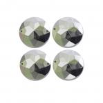 Metallilaadsed, tahulised plastikust dekoratiivkivid 20mm, 4tk pakis