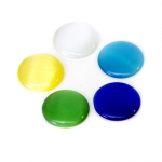 Ümara vormiga, lameda põhjaga, liimitav, kassisilm klaashelmes 20x20x4mm