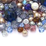 Pärlisegu Kirjudes toonides eri suurusega  pärlitest 5-14mm, 100/50g pakk