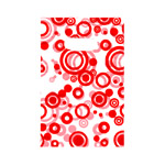Mustriline kilekott / Red Circle Pattern Plastic Bag / 19 x 12cm