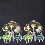 Flamenkotantsijatega, veniv puuvillasegu kangas, 11816, 150cm, Stenzo textiles