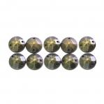 Metallilaadsed, tahulised plastikust dekoratiivkivid 10mm, 10tk pakis