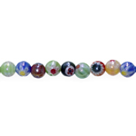 Kirjud mustrilised ümarad millefiori pärlid 6mm