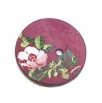 Ümar lillega värviline nööp/Plastic Button/ 28mm/44L