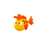 Kuldkalake, kannaga plastiknööp, 24x20mm/38L