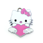 Metal `Hello Kitty` Charm / 25 x 20mm