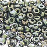 Pärlisegu Mustadest kuldsete AB-kattega pärlitest 6-7mm, 100/50g pakk