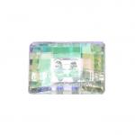 Ristkülikukujuline kristallilaadne akrüülnööp 18x13mm, 28L