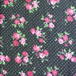 Puuvillane kangas teksataoline, roosidega 123.846