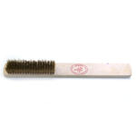 Terashari tugevate harjastega / Heavy Duty Brass Bristle Brush with Handle