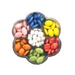 Lillekujuline Tsehhi klaaspärlite valikkarp 8-15mm pärlitest