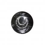 Must, hõbedase mustriga, kannaga plastiknööp 17mm/28L