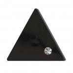 Must, kolmnurkne, kaunistuspärliga, nööp 38mm, 60L