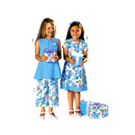 Kleit & püksid, Kasv 104-140 cm / Dress & pants / Burda 9691