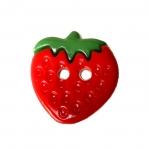 Maasikakujuline plastiknööp, kahe auguga/Plastic Button/ 15mm/25L