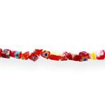 Kirjud mustrilised kandilised millefiori pärlid 4-5mm