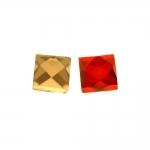 Liimitav, tahuline, ruudukujuline klaaskristall 6x6mm