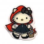 Triigitav Aplikatsioon; 3D kleebisHello Kitty, Little Red, Punamütsike / Embroidered Iron-On Patch; Hello Kitty 8,5x8cm