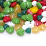 Pärlisegu Kirjudes toonides eri suurusega  südamekujulistest pärlitest 5-10mm, 100/50g pakk