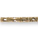 Torukujuline metallhelmes antiikse reljeefse mustriga 10x6mm