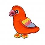 Värviline papagoi 6x4,5cm