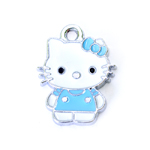 Metal `Hello Kitty` Charm / 25 x 22mm