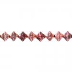 Rondellikujuline, graveeritud mustriga riputis/helmes CCB plastikust 7x6mm