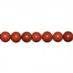 Ümarad, naturaalsest punasest jaspisest 10mm helmed