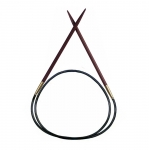 Roosipuust ringvardad / Rosewood Circular Knitting Pins / Pony (India) No.6,0