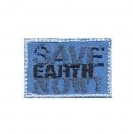 Triigitav Aplikatsioon `Save Earth Now` Hoia meie planeeti! 4,5x3cm