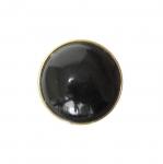 Must, läikiv, kuldse põhjaga, kannaga nööp 22mm, 34L