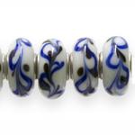 Värvilised, klaasist metallsisuga pandora tüüpi helmed 14x7mm