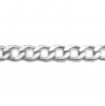 Massiivne alumiiniumkett tahutud servadega 22x15x4mm