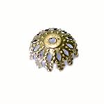 Pitsiline lillekujuline pärlikübar / Bead Cap / 8 x 3,5mm