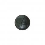 Must, reljeefse mustriga, kannaga plastiknööp 15mm/24L