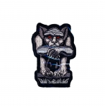 Embroidered Iron-On Patch; Gargoyle / 9 x 6,5cm